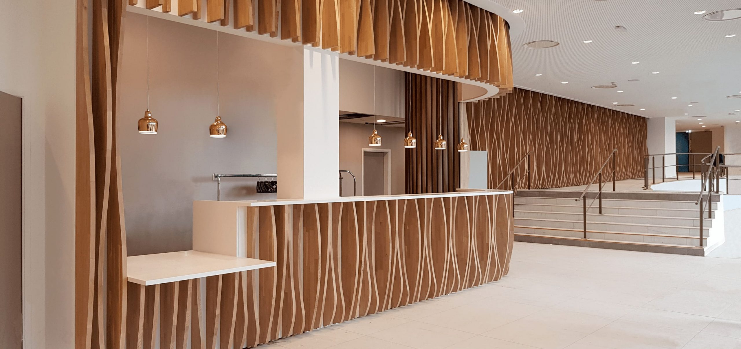 Accueil du NH Hôtel à Toulouse conçu et agencé par SAFRA Agencement