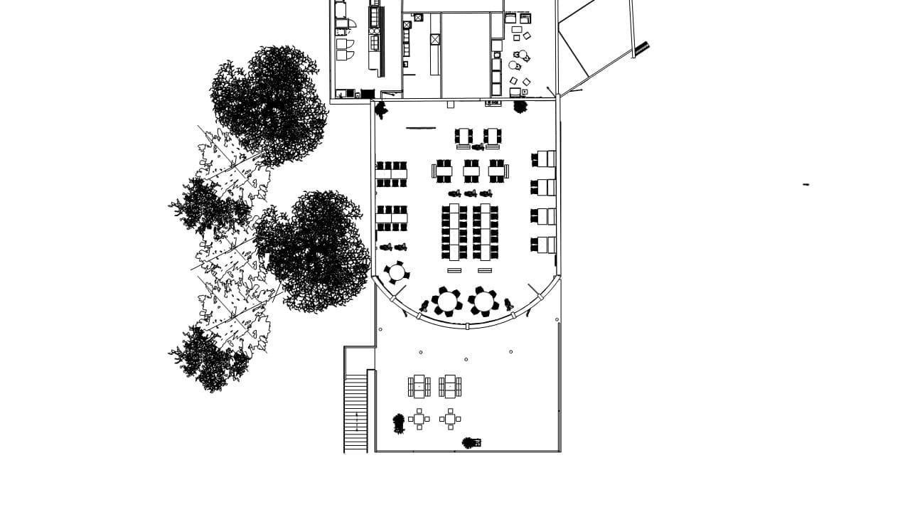 Plan 2D de l'agencement de TRIFYL par SAFRA Agencement