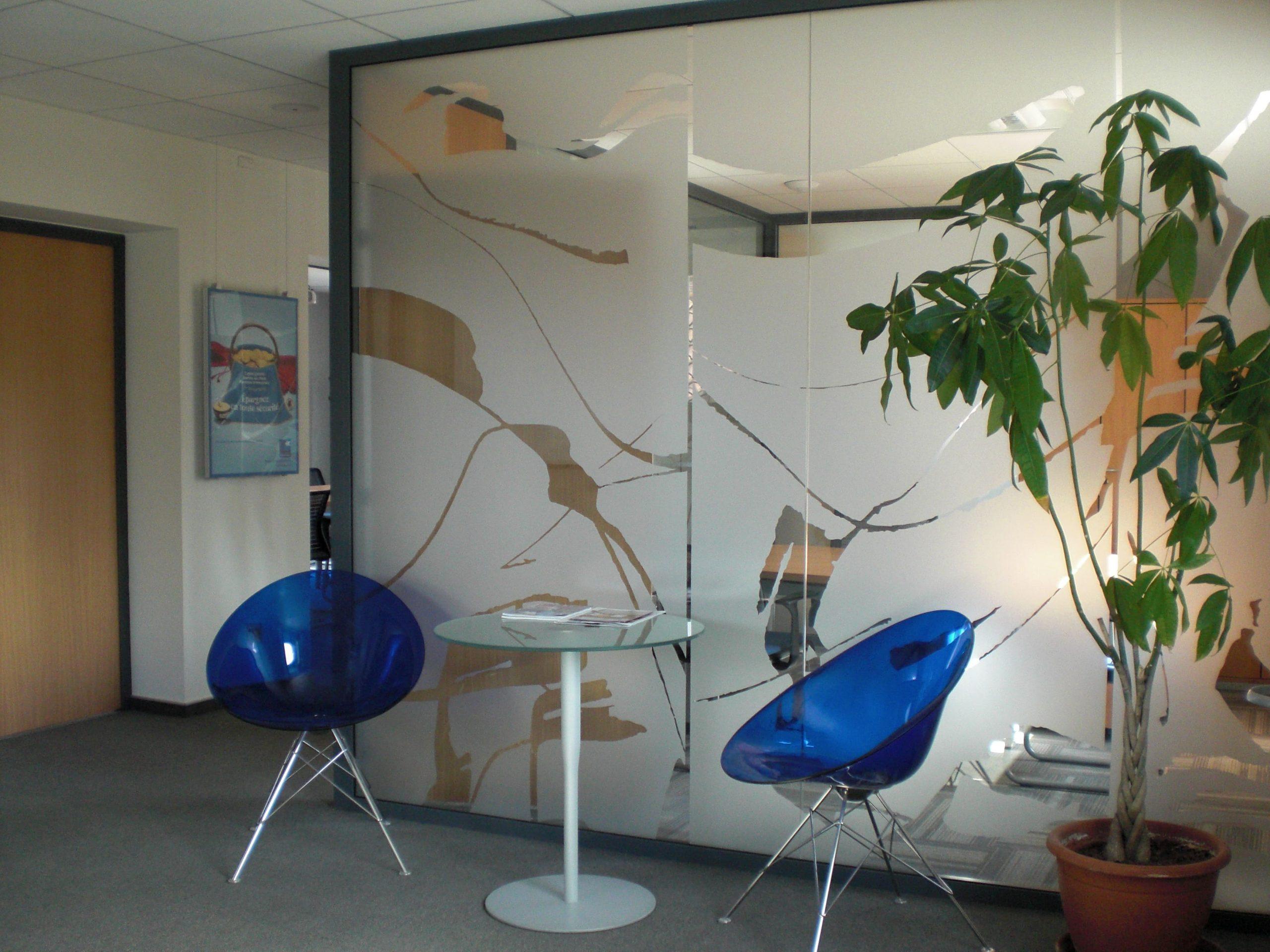 Espace d'attente de la Banque Populaire de Montauban agencé par SAFRA Agencement