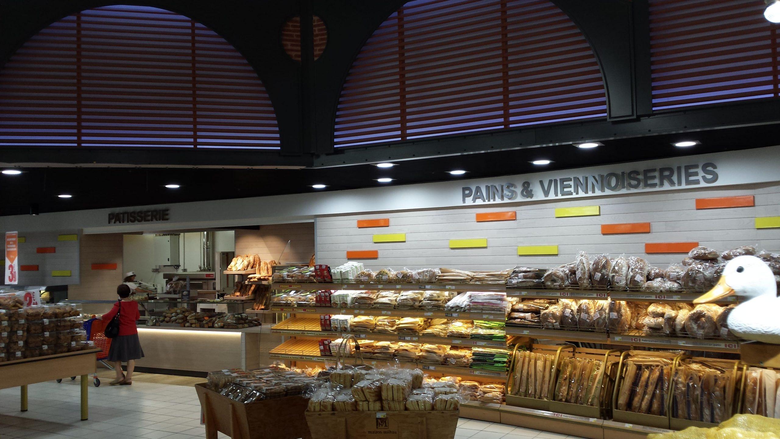 Boulangerie du Leclerc des Portes d'Albi agencé par SAFRA Agencement