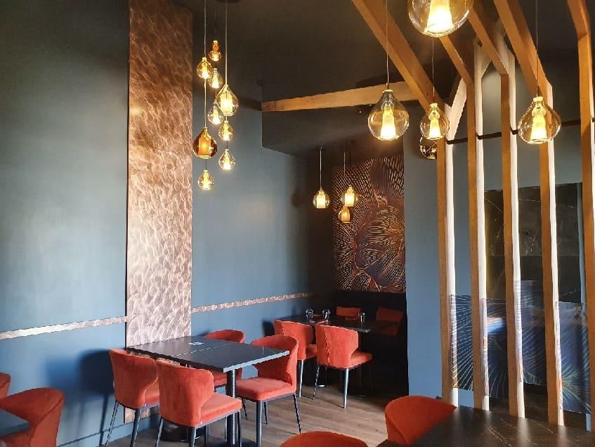 Intérieur de la pizzeria Montini à Aussonne agencé par SAFRA Agencement